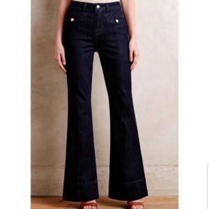 Pilcro & the Letterpress High Rise Wide Leg Jeans.